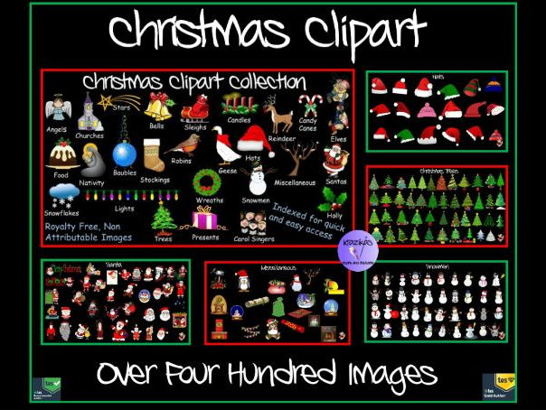Christmas Clipart Collection - Over 400 Images - Indexed and Organised on PowerPoint for Easy Access