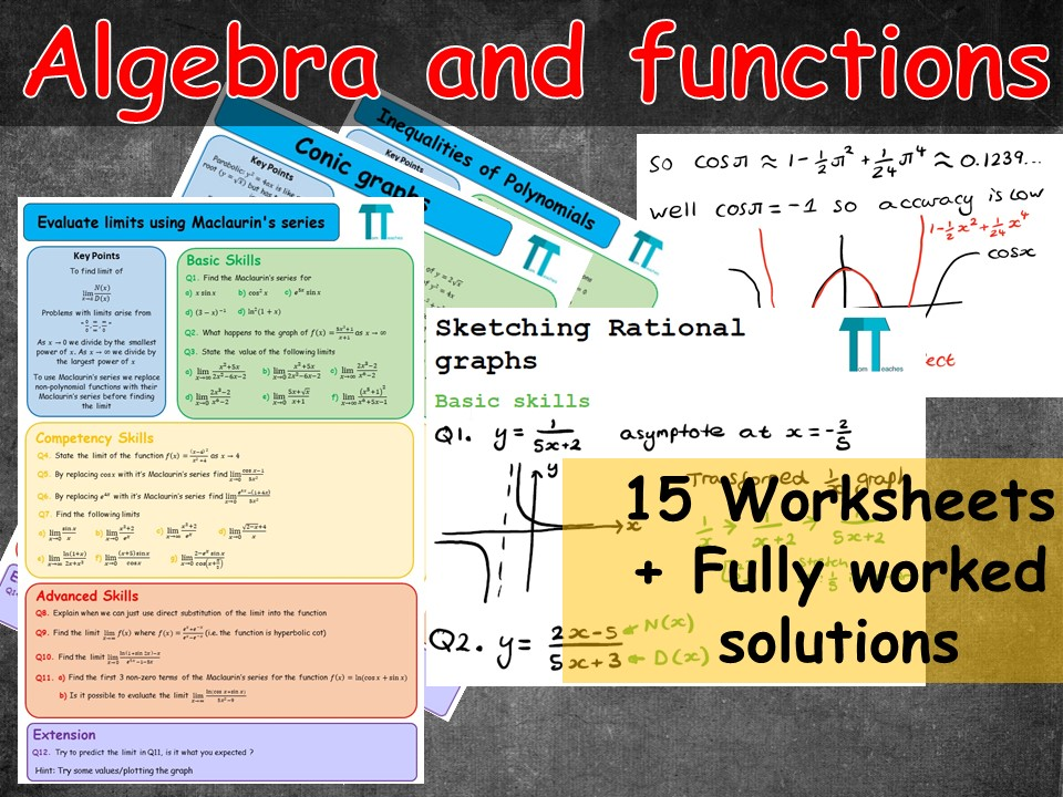 Algebra and functions Further Maths A-Level