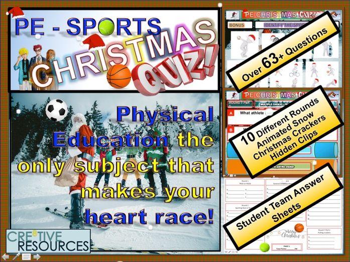 PE Christmas Quiz 2018 Sports