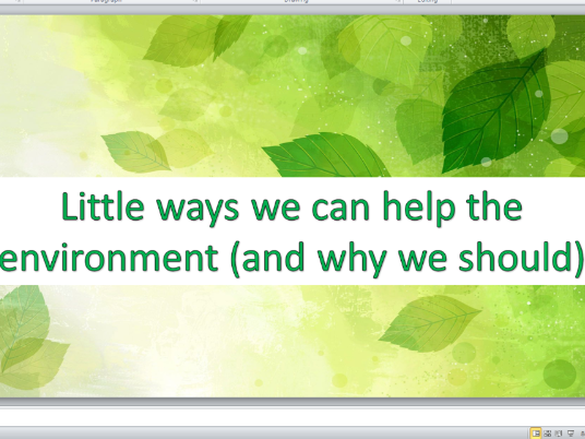 Little ways we can help the environment (and why we should)