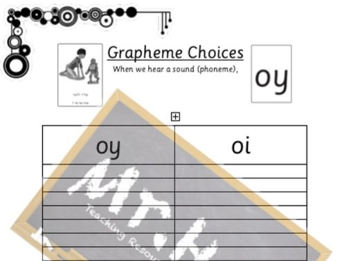 Phonics - Read, Write, Inc. Grapheme Choice Spelling Worksheet