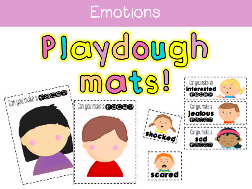Emotions Playdough Mats
