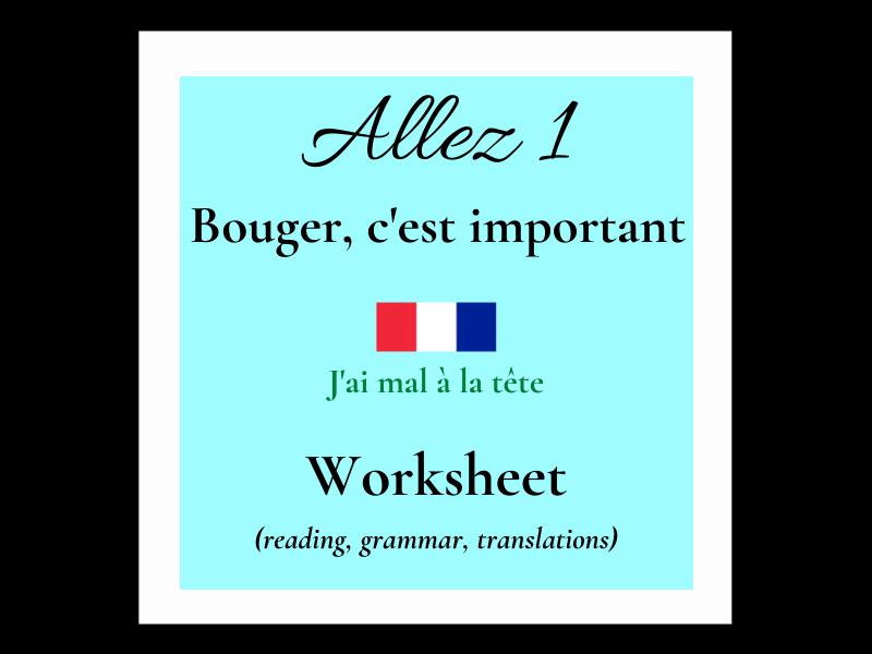 j'ai mal - French (Allez 1 8.4)