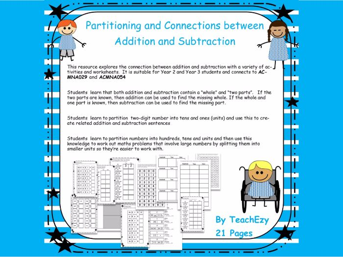 Partitioning and Connection between Addition and Subtractions
