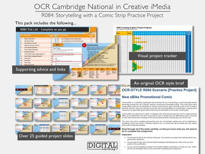 Cambridge National in Creative iMedia R084: Storytelling with a Comic Strip Practice Project