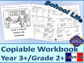 School Life – Level 1 French Workbook