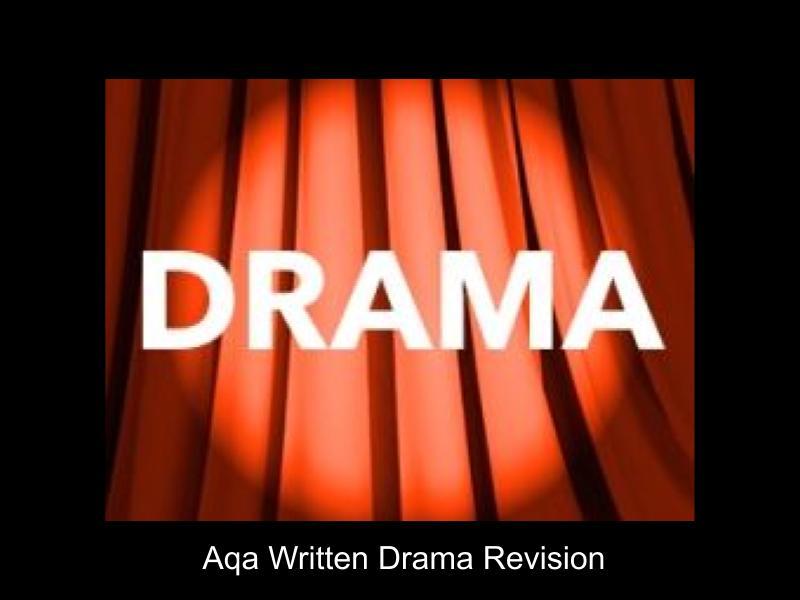 AQA GCSE Drama written exam revision booklet