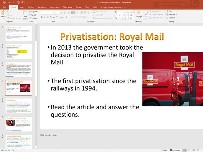 22. Privatisation and Deregulation (Slides, Activities and Notes) - A-Level Economics - Theme 3