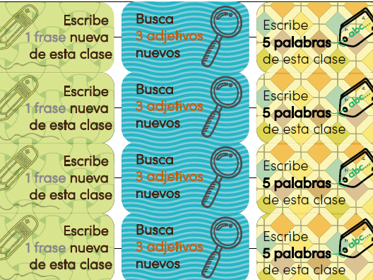 Marking Stickers for Spanish