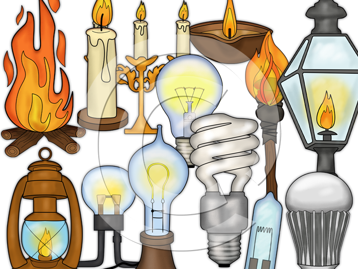 Light bulb clip art-History Light clipart