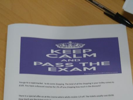 Functional Skills  Maths L2 Keep calm and pass your exam includes answers