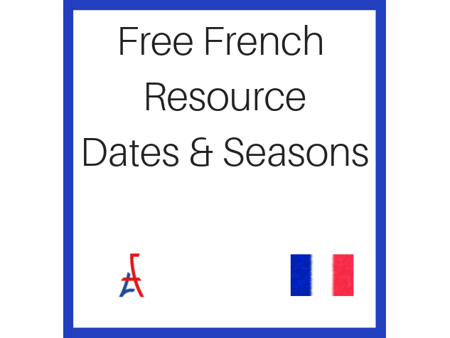 Free French Resource - Dates, Seasons