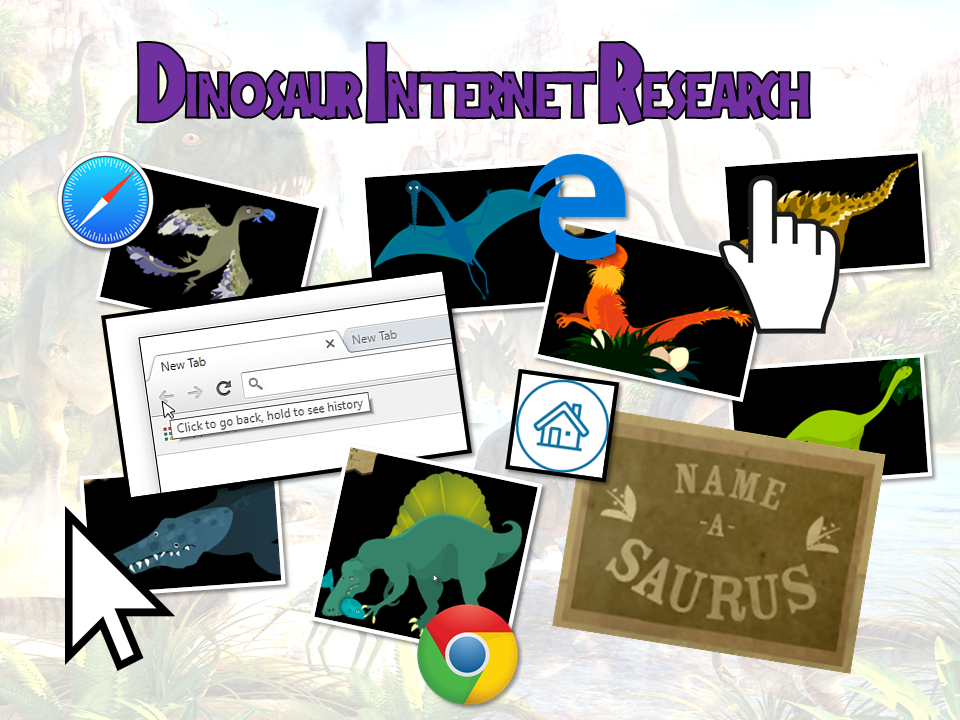Dinosaurs - Computing Internet Research Skills - 2 Lesson mini unit - Year 1 & 2