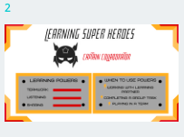 Learning Power Approach Superheroes Display