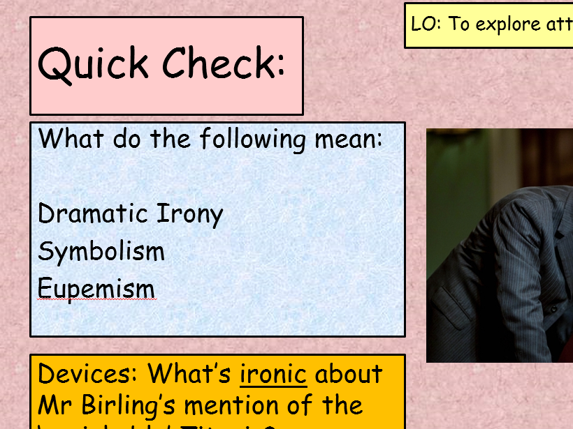 An Inspector Calls Act 1 Revision