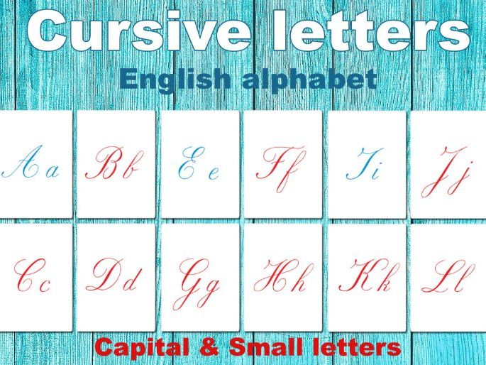 FULL Cursive letters // Capital - small // Handwriting // English alphabet
