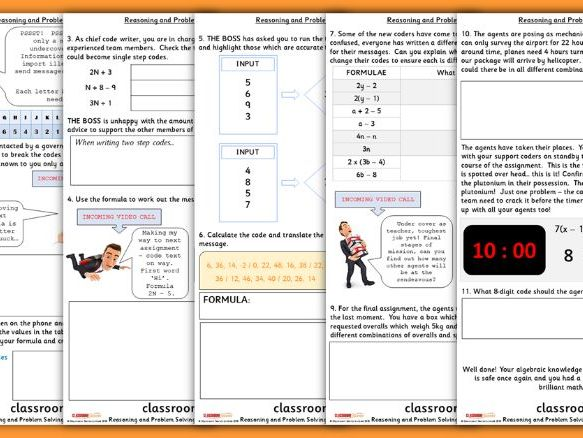 Algebra Consolidation Year 6 Spring Block 3 Reasoning and Problem Solving