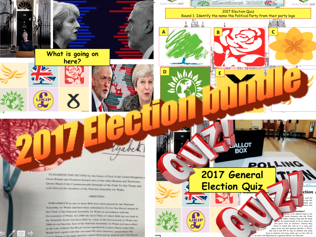 2017 UK General Election Lesson(s) Assess through Quiz Questions