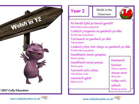 Incidental Welsh Booklet for the Y2 Classroom