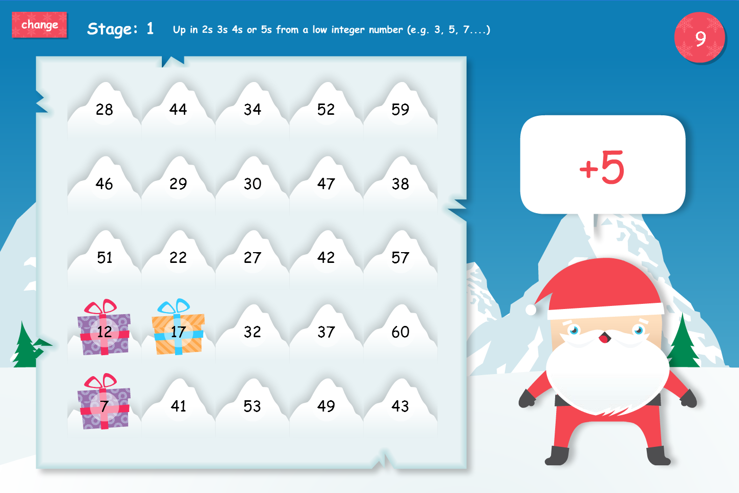 Presents in the Snow Interactive Game - Christmas KS1/KS2