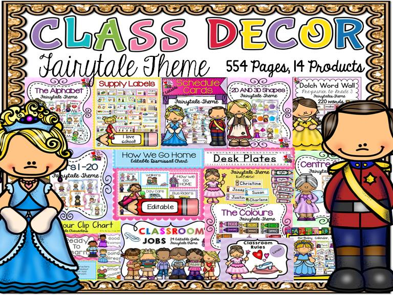BACK TO SCHOOL CLASS DECOR MEGA BUNDLE {FAIRYTALE THEME}