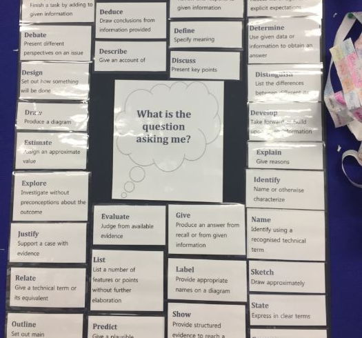 AQA Command words for display and handout sheet for pupils