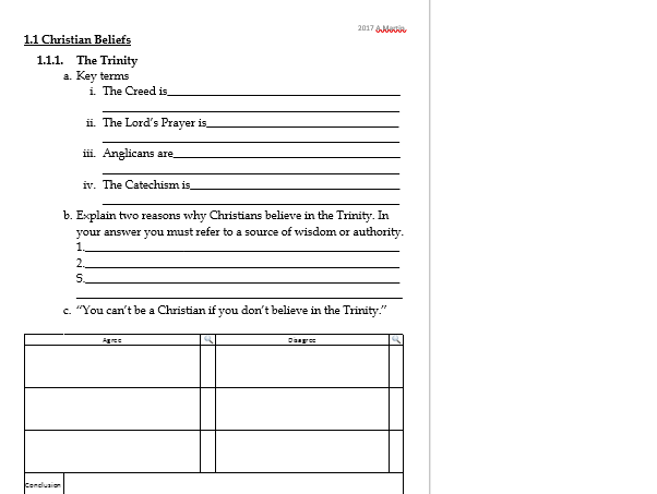Religious Celebrations- Revision work sheet or plenary task- EDEXCEL GCSE RS B Christianity