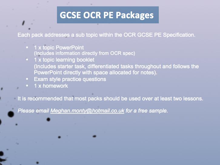 OCR GCSE PE 9-1 2016 Unit 1.4 (Cardiovascular System) Double circulatory system.
