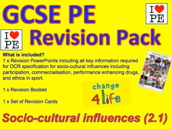 GCSE PE Participation, Commercialisation, Ethics in Sport Revision Pack