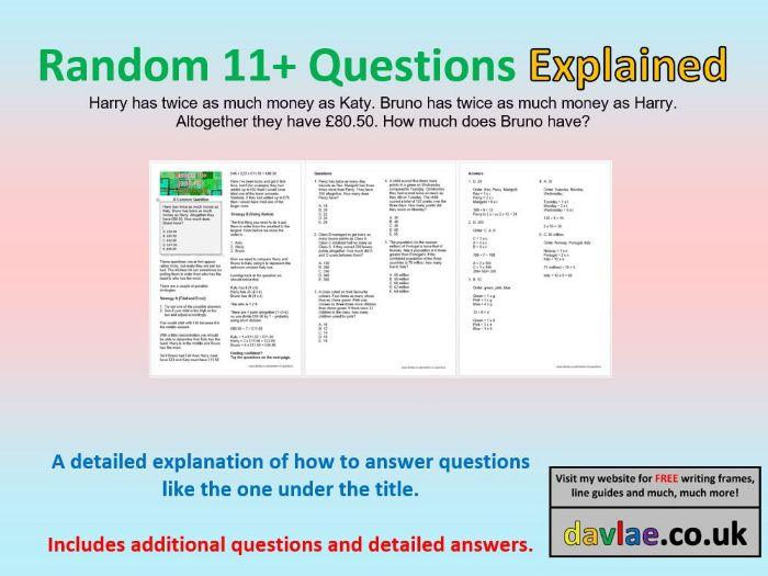 Random 11+ Questions Explained (Common Ratio Question)