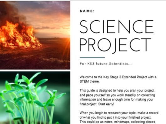 KS3 Extended Project Booklet