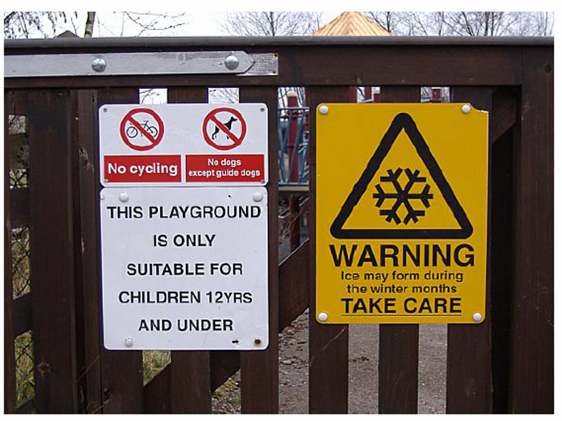 Test Your Reading Skills Playground Signs – Reading Comprehension