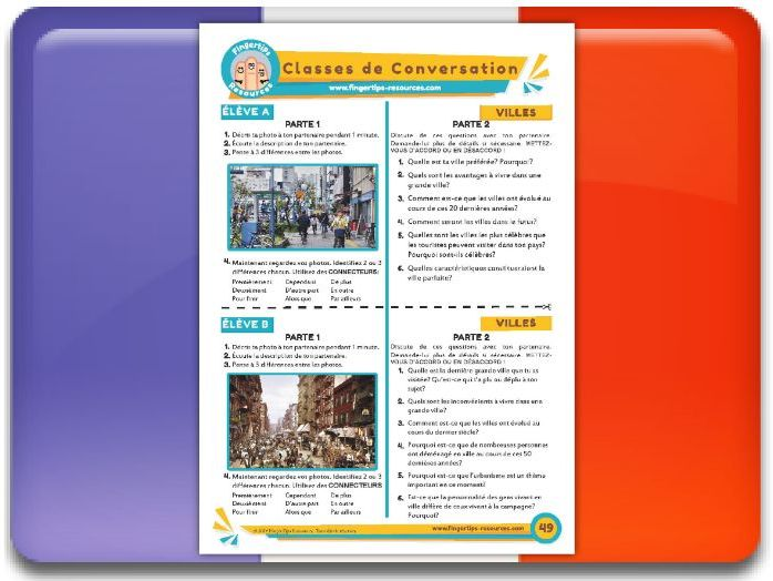 Les villes - French Conversation Activity