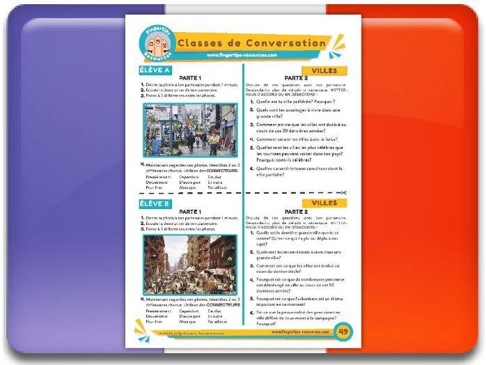 Les villes - French Conversation Activity