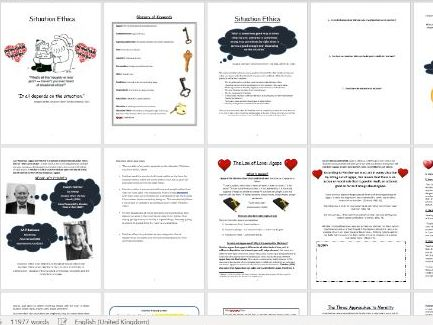 Situation Ethics Workbook and Power Points