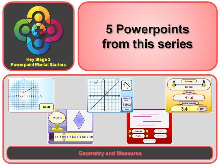 KS3 Maths Mental Starters: Geometry and Measures - Lines etc