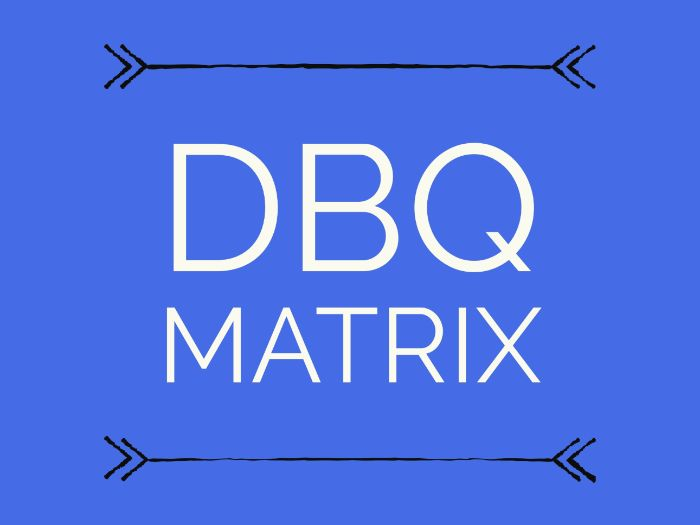 DBQ Matrix - A Document Based Question Organizer