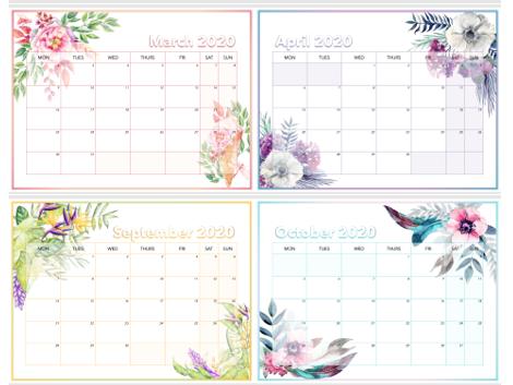 2020 - 2021 Desk Calendar (personalisable)