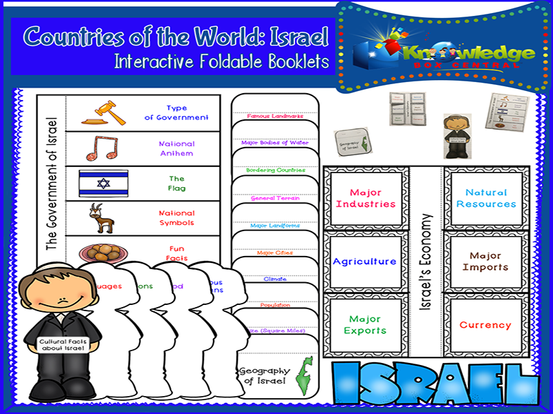 Countries of the World: Israel Interactive Foldable Booklets