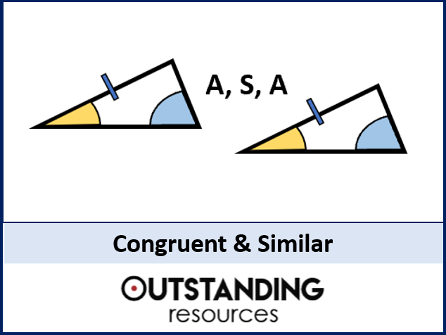 Angle Rules 7 - Congruent and Similar Triangles / Shapes (+ worksheet)
