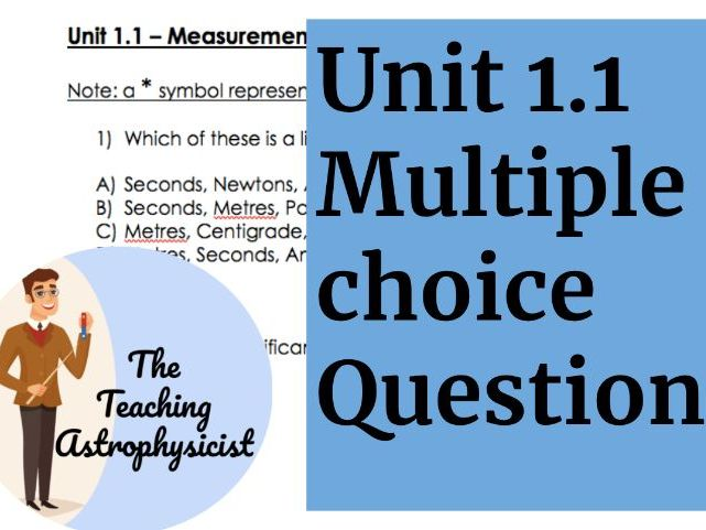 IB DP Physics Topic 1.1 Measurement in Physics - Multiple choice questions