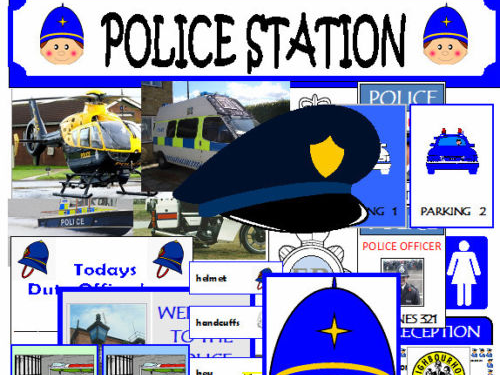 POLICE STATION ROLEPLAY EYFS KS1 PRESCHOOL CLASSROOM DISPLAY