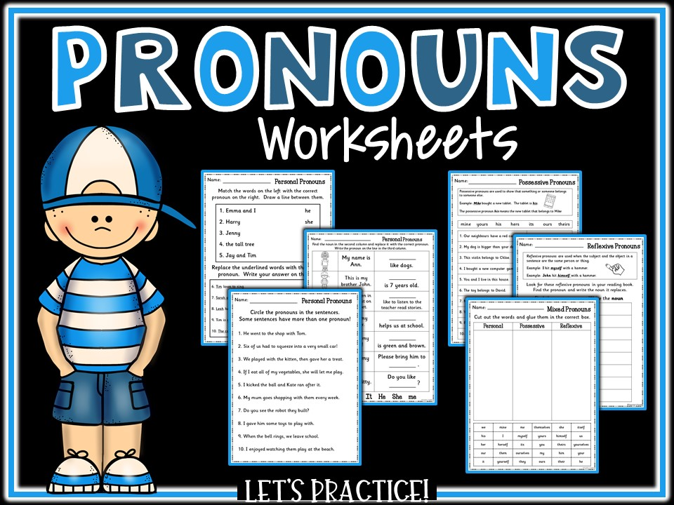 SPAG Revision: Pronouns Practice Worksheets