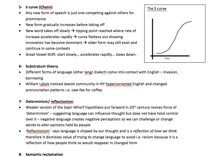 Language change and the history of English revision - A Level English Language Revision AQA NEW SPEC