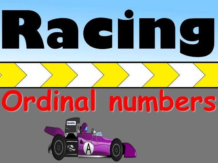 Ordinal Numbers Review Game - Racing Game - Grades K-1