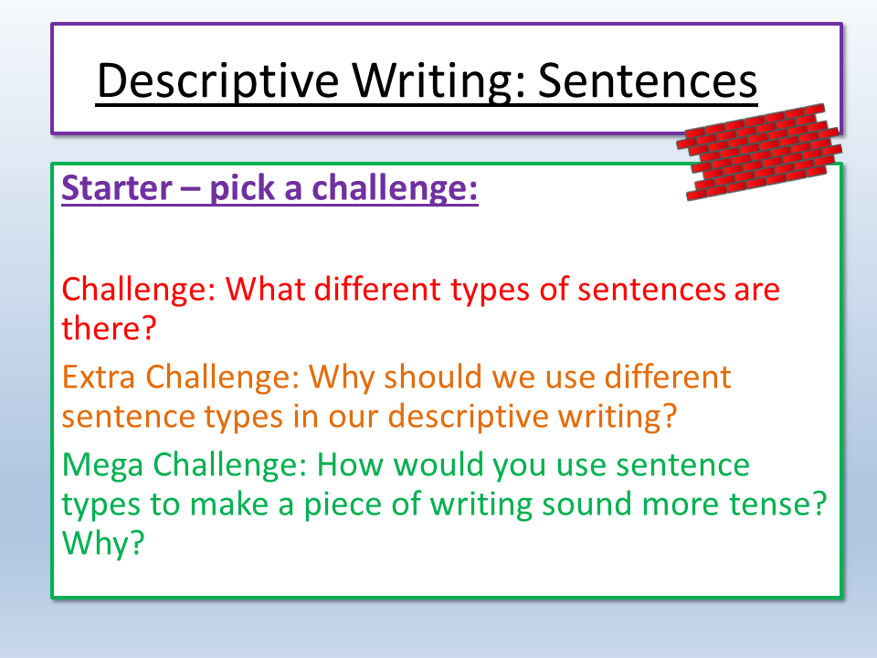 Eduqas Creative Prose Writing Sentences