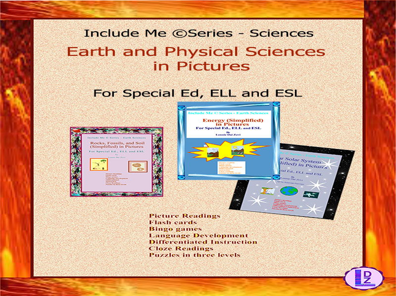 Earth and Physical Sciences (Simplified) in Pictures for Special Ed., ELL and ESL Students BUNDLE