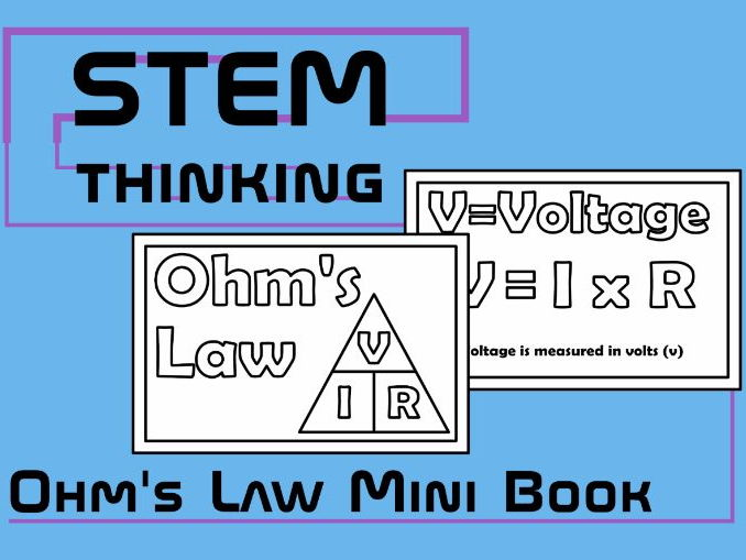 Ohm's Law Mini Foldable Physics Book