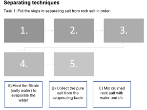 Separation techniques and rock salts