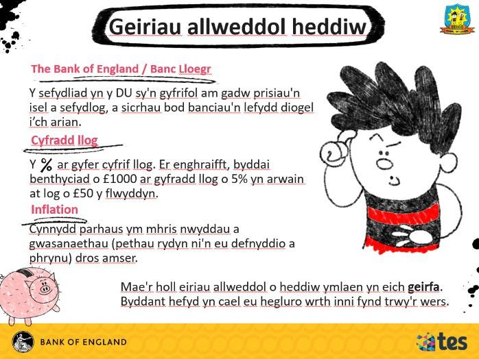 Lesson 6 Money and me - The Bank of England (Welsh curriculum & language)